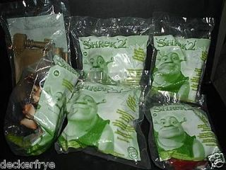 2003 Shrek 2 Burger King Toys Set of 6 UNOPENED Sealed