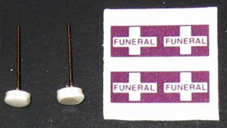 25 G scale model hearse funeral procession flags