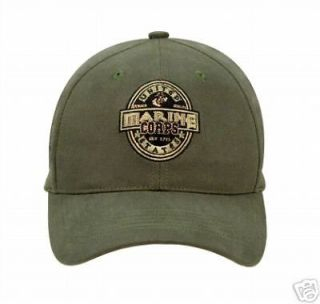 HAT USMC MARINES LOW PROFILE BASEBALL CAP OLIVE DRAB ADJUSTABLE ROTHCO