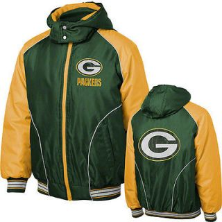 Green Bay Packers Green Touchdown Detachable Hooded Jacket