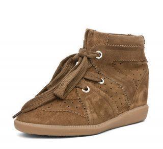 Isabel Marant Stainer Basket Bobby Sneaker in Camel
