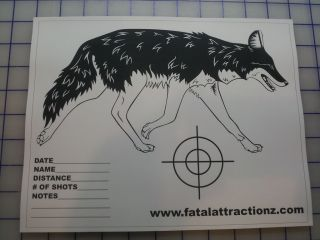 Shooting Targets 5 Pack Coyote Airsoft BB Rimfire Rifle pistol dart