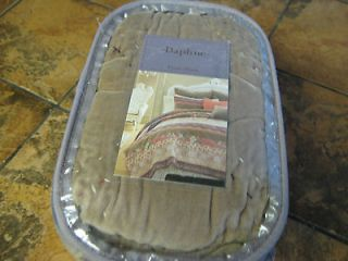 Daphne quilted o sham  Bed Bath & Beyond  Brown  Embroidered Orig $