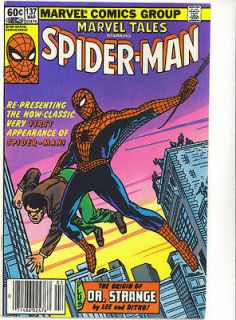 Tales 137 reprints 1st Spidey AMAZING FANTASY 15 NEWS STAND BARCODE ED