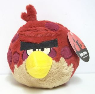 BIG BROTHER RED BIRD PLUSH SOFT TOY ANGRY BIRDS 6 INCH NEW WITH TAG