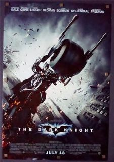 DARK KNIGHT Advance BAT BIKE 2008 Movie Poster ROLLED DS One Sheet 1SH