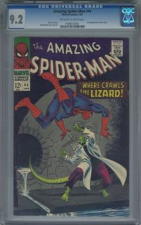 Amazing Spider man #44 2nd Lizard Appearance CGC 9.2