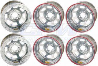 Pack Bassett D Hole Racing Wheels 15x8 5x4 3/4 IMCA S