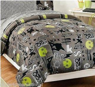 Skull3 Complete Bed in a Bag Comforter Set Boys Bedroom Twin Full