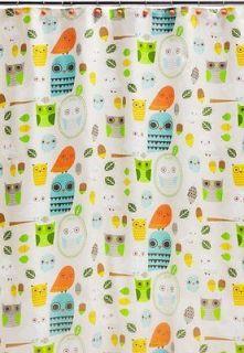 Multi Colored Owl Kids Shower Curtain Bathroom Decor Fabric Cool