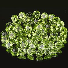 2mm Lot 50pc Round Natural Green Peridot cpr1