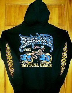 2013 Daytona Beach Bike Week HOODIE Black Sz XL SKELETON MAN TAKES