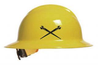 spud wrenchs crossed vinyl decal,hardhat, bull pin,Ironworker ,Klien