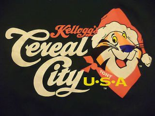 CEREAL CITY TONY THE TIGER t shirt sz L NEW NWT battle creek michigan