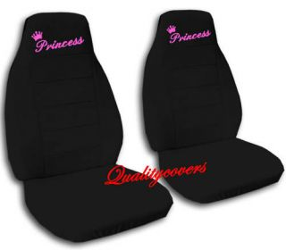 FRONT CAR SEAT PINK PRINCESS COVERS IN BLACK CUTE