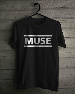 Muse T Shirt, Music Rock Logo Band Black Tee SIZE S,M,L,XL,2XL,3 XL