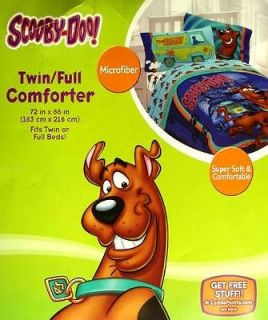 SCOOBY DOO FULL SIZE COMFORTER SHEETS DRAPES 6PC BEDDING SET NEW
