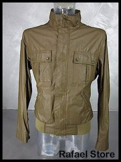 BELSTAFF Mens Jacket Beige L IT 711435 New Irvine Bomber Man Panama