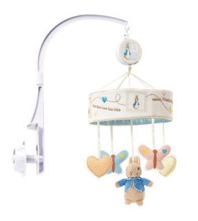 Beatrix Potter Peter Rabbit Baby Musical Cot Mobile NEW