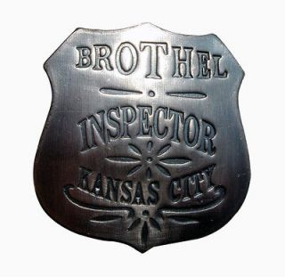 OLD WEST obsolete 1900s BROTHEL INSPECTOR POLICE BADGE