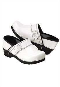Koi by Sanita Professional Lindsey Clogs in White Patent Leather