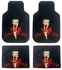 Betty Boop Car Truck 4 pcs. Front & Rear Floor Mats   RED DRESS