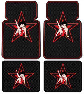 Betty Boop Car Truck 4 pcs. Front & Rear Floor Mats   STAR