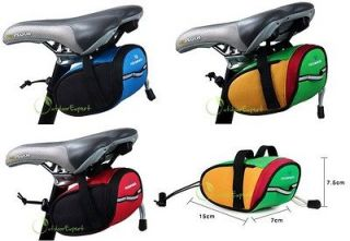 Mini Bike Cycling Bicycle Saddle Seat Rear Tail Bag Pack Pouch Velcro