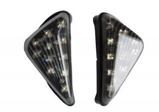Motorcycle Flush Mount LED Euro Triangle Turn Signals Light Blinkers