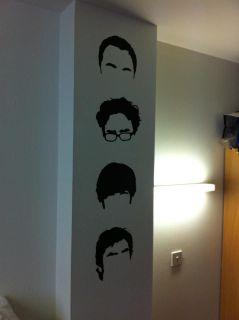 BIG BANG THEORY HAIRLINES WALL STICKER DECAL MURAL GRAPHIC HOME ROOM