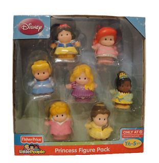 NEW FISHER PRICE LITTLE PEOPLE DISNEY PRINCESS EXCLUSIVE 7 FIGURE PACK