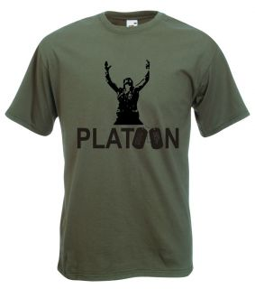 Platoon T Shirt   Cult War Movie, Vietnam, Charlie Sheen   All Sizes