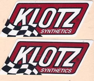 Klotz Racing Decals Sticker 9 Inches Long Size New Decal Sticker