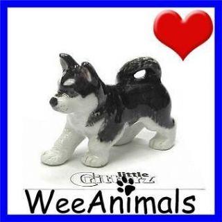 Little Critterz Bering Siberian Husky Dog Miniature Figurine Wee