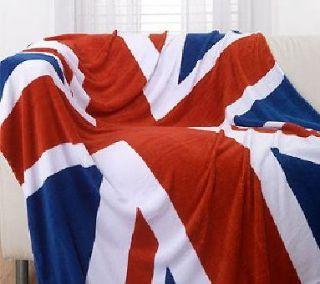 Union Jack Polar Fleece Blanket / Bed Throw 160cm x 150cm BNWT RRP£14