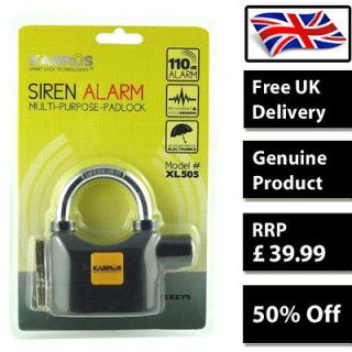 Alarm Padlock Siren Lock Motorbike Shed Bike Bicycle Motorcycle