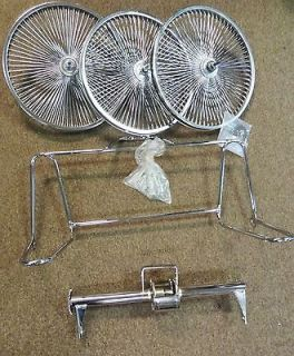 Wheel Trike Kit With Three Wheels Bicycle Chrome 20 inch Bike