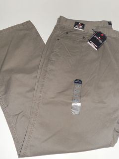 NWT ST JOHNS BAY Mens Straight Fit Flat Front Chino Taupe Jeans Pants
