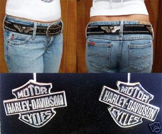 BELT HogWild4U WINGS & STARS & Harley Davidson STUD Earrings Mens