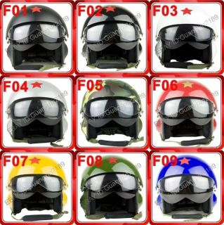 Jet Pilot Flight Open Face Motorcycle Bike Helmet Hat Cap 9 Color S XL