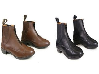 Black Brown Leather Horse Riding Jodhpur Boots All Sizes