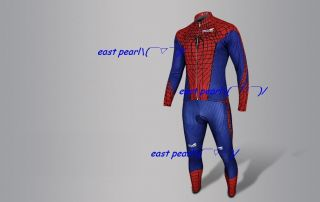 Spiderman cycling clothes suits clothing tops T shirt pants long