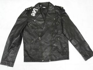 Lee Mens Genuine Leather Biker Jacket   Black**BNWT**6 0% OFF**