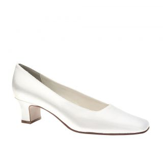 Betty White Satin Dyeable Low Heel Pump Bridal Wedding Shoes