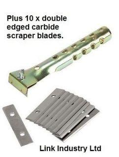 STANLEY 0 28 640 type PAINT SCRAPER with 10 x SCRAPER BLADES