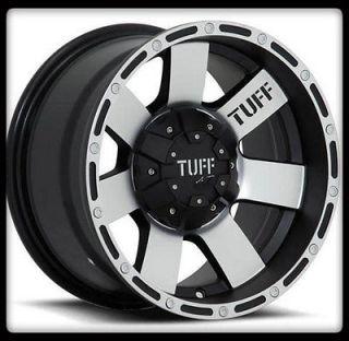TUFF WHEELS T02 BLACK RIMS & 33X10.50X15 BFGOODRICH TA KM2 M/T TIRES