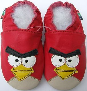shoeszoo angry bird white 12 18m S new soft sole leather baby shoes