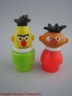 VINTAGE Sesame Street BERT ERNIE LITTLE PEOPLE PERSON Fisher Price