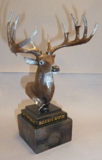 Whitetail Legends Buck DEER Head w Antlers Statue Figurine JORDAN