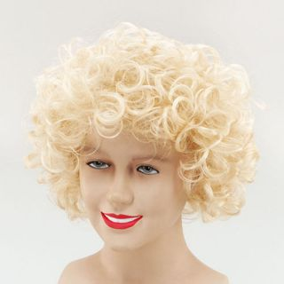 Curly Blonde Wig Cowgirl Dolly Parton Sandy Grease Ladies Fancy Dress